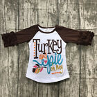 Внешний вид - Happy Thanksgiving Toddler Baby Girl Turkey Print T-shirt Tops Cotton Outfits