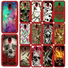 For Samsung Note 9, Ruby Red Edge TPU Case w/ Designs Shock Resistant
