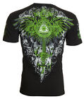 ARCHAIC by AFFLICTION Men T-Shirt AETERNO Cross Wings BLACK Tattoo Biker $40 image