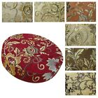 """2""""Thick-Round Box Shape Cover *Damask Chenille Chair Seat Cushion Case*Wk2"""