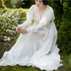 Medieval Peasant Boho Dress Maiden Chemise Tier Long Maxi Ball Gown Loose Dress