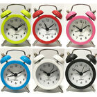 Retro Vintage Alarm Clocks Metal Desk Table Bedroom Mini Travel Clock Decroation