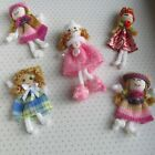 Mini Rag Dolls Fun Fashion Creative  Play/Craft/Party Bags/Doll House 1 12 Scale