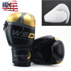 For men kids Boxing Gloves Thai Training Punching Sparring MMA kick PU Leather