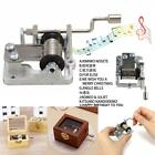 Mini Note Hand Crank Music Box Movement DIY Box +10 Strips Tape DIY Your Songs