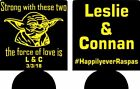 personalized yoda star wars wedding coozies no minimums can coolers quick ship $35.99 USD on eBay