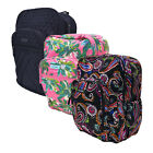 Vera Bradley Large Campus Backpack School Bag Book Bag Travel with Logo New Nwt
