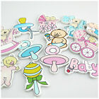 HOT SELL VARIOUS STYLE BABY SHAPED WOODEN CHIPS & WOODEN BUTTONS FOR HANDICRAFTS