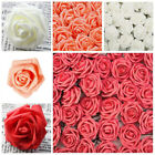 50/100pcs Artificial Foam Roses Fake Flowers Wedding Bouquet Party Home Decor Uk