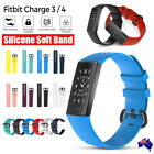 Fitbit Charge 3 4 Watch Soft Silicone Replacement Band Strap Diamond Texture Au