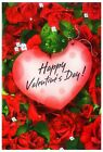 "Внешний вид - Happy Valentine's Day Decorative Garden Flag 12""X18"" Designer Artwork Small Flag"