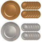 "Внешний вид - 12pk Lincoln 13"" Round Charger Plate Set Dining Room Table Home Decor Plates"