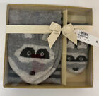 Boys Girls Scarf Gloves Mittens Gift Set Marks & Spencer Grey Cashmere rrp £30