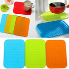 Durable Anti-skid Rectangle Silicone Dish Drying Heat Resistant Mat Pot Holder