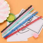 10 pcs Colorful Reusable Hard Plastic Stripe Drinking Straws Party Decoration