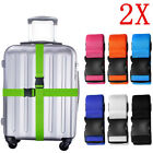 2x Adjustable Travel Luggage Safe Belt Packing Suitcase Baggage Backpack Strap