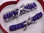 NEW Beautiful Purple Silver Wedding Prom Garters Homecoming GetTheGoodStuff A+