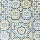 Moroccan Tile Teal White Blue Green Mosaic Wallpaper Kitchen Bathroom 118001