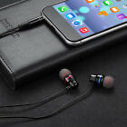Wired earbuds noise cancelling stereo earphones heavy bass sound sport headsetXS