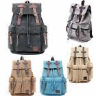 Vintage Retro Canvas Backpack Rucksack Travel Sports Satchel School Hiking Bag