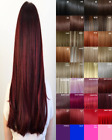 Hair Extensions Clip in real Human Feel Brown Golden Blonde White Plum Burgundy