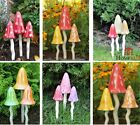 Garden Ornaments Toadstools Ceramic Fairy Decoration Mushrooms Pixie Magical