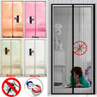 Magnetic Door Mesh Curtain Magic Fastening Hands Free Fly Bug Insect Screen Net