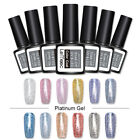 LEMOOC 8ml Platinum UV Gellack Soak Off Gel Polish Funkeln Shimmer Nail Art Gel