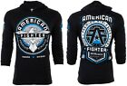 AMERICAN FIGHTER Mens Hoodie Sweat Shirt BROCKPORT Athletic BLACK Gym UFC $65