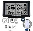 Wireless Weather Station Digital Alarm Clock LCD Large Display Indoor Outdoor