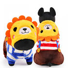 Lion Costume Small Pet Dog Jumpsuit Winter Chihuahua Clothes Warm Hoodie Coat