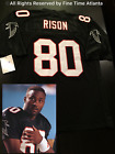 NEW Andre Rison Atlanta Falcons Men's BLACK HOME Retro Jersey Deion Sanders on eBay
