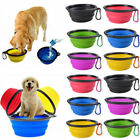 Pet Dog Silicone Collapsible Travel Feeding Bowl Food Water Dish Feeder Tool