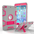 For iPad 9.7 2018 Mini Air Heavy Duty Shock Proof Military Hard Stand Case Cover