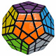 Megaminx Speed Cube 3x3, LSMY Dodecahedron Puzzle Cubes Toy Black