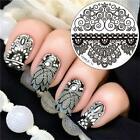 Steel DIY Stamp Stencil Christmas Round Nail Art Template Stamping Plates