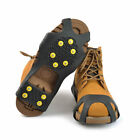 1 Pair Outdoor Hiking Ice Snow Shoe Boot Spikes Grips 10-Stud Crampons Anti Slip