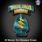 Special Forces Airborne Lightning Sword Decal Sticker Multiple Sizes