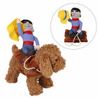 Funny Halloween Pet Clothes Puppy Dog Cat Cosplay Riding Cowboy Knight Suit
