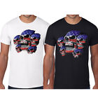 Mens T-shirt American Flag Skull Army Military Usa Pride Patriotic Tee Top S-3XL image
