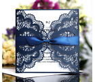 10pcs Laser Cut Party Invitations Cards Birthday Wedding Engagement Bridal Bride