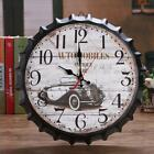 Retro Creative Metal Iron Wine Bottle Cover Wall Clocks Small Clock Home Decor