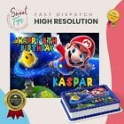 SUPER MARIO BROTHERS RECTANGLE EDIBLE CAKE TOPPER DECORATION PERSONALISED