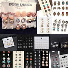 Внешний вид - Lots 12 Pairs Fashion Rhinestone Crystal Pearl Earrings Women Ear Stud Jewelry