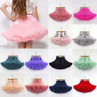 Toddler Girl Princess Dance Tutu Dress Skirt Baby Kids Fluffy Pettiskirt Costume
