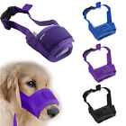 Pet Dog Adjustable Mask Bark Bite Mesh Mouth Muzzle Grooming Anti Stop Chewing.