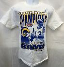 SUPER BOWL 34 CHAMPS KURT WARNER ST. LOUIS RAMS WHITE T-SHIRT L XL 2X FREE SHIP