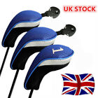 Golf Club Wood Head Covers Long Interchangeable Driver Fairway Hybrid Rescue UK