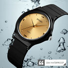 SKMEI Mens Women Ultra Thin Casual Sport Waterproof Analog Quartz Wrist Watch US image
