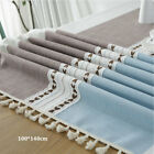 Cotton Linen Lace Tassel Rectangle Tablecloth Home Restaurant Dining Table Decor